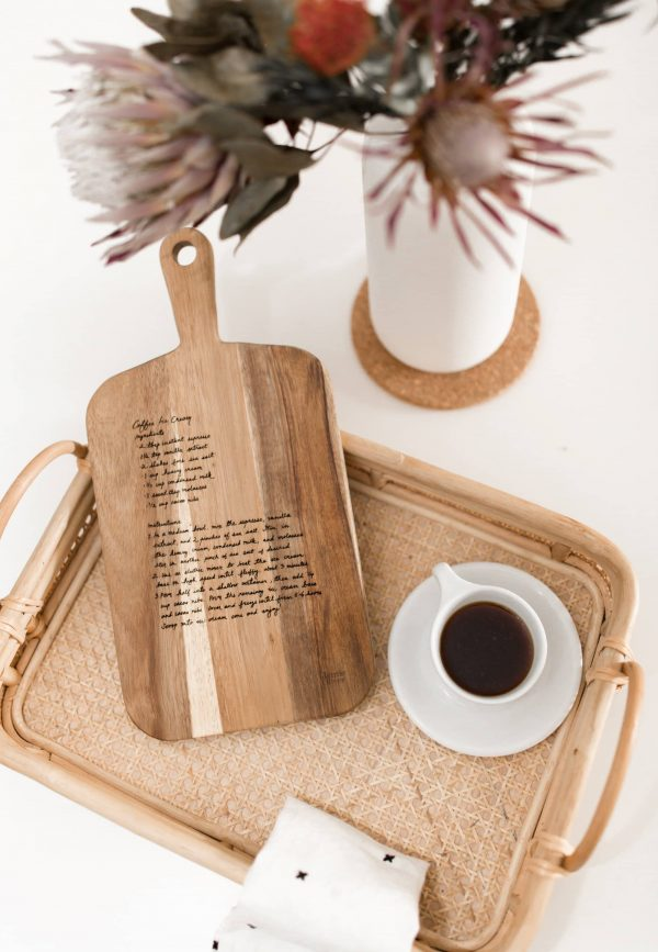 cutting board with recipe fort collins