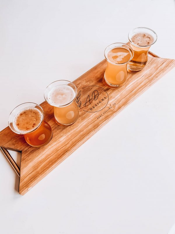 personalized flight board and glasses